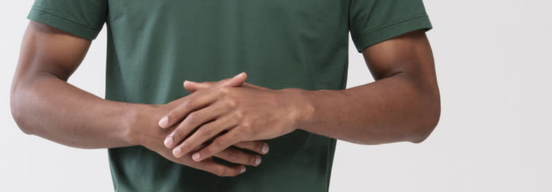 T-shirt ronde hals Dry Cotton 46502 - groen