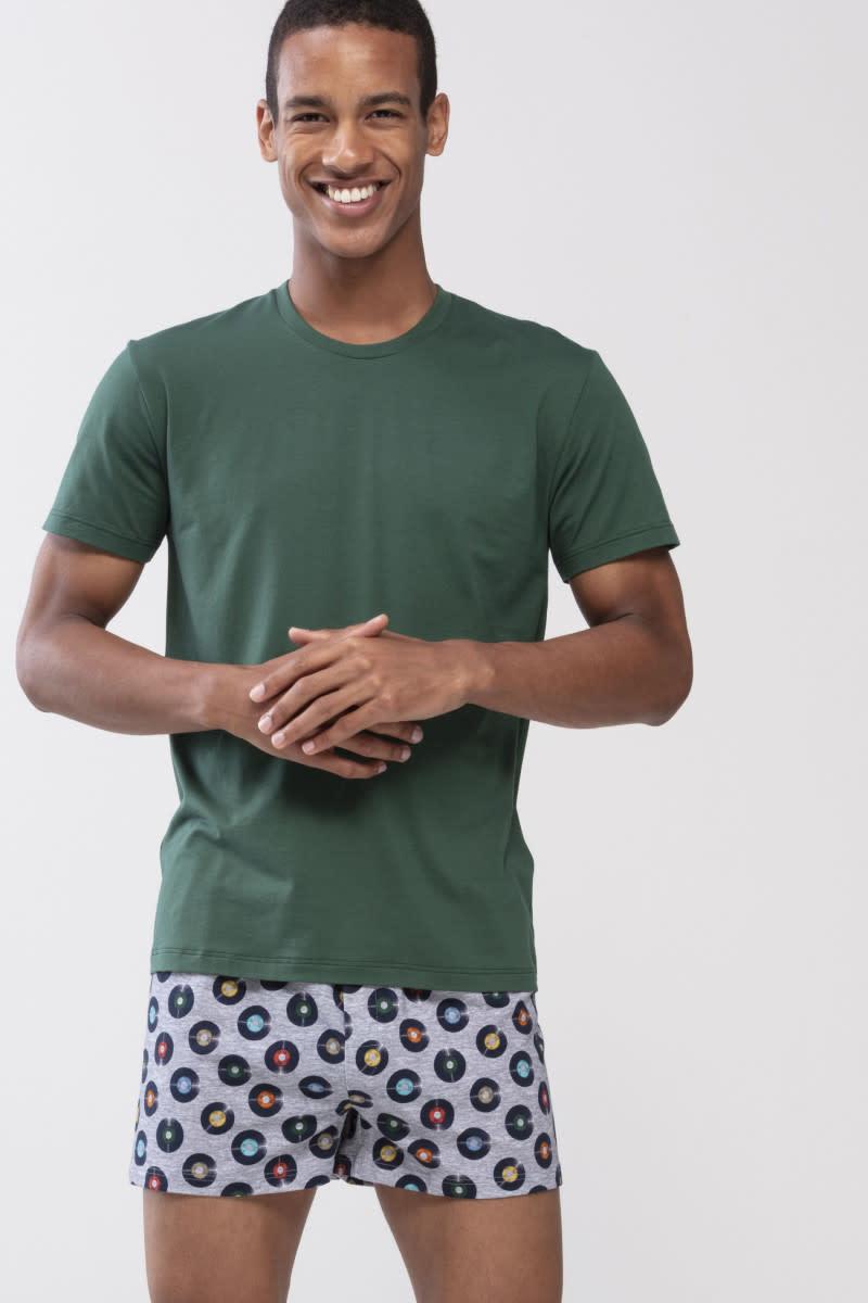 T-shirt ronde hals Dry Cotton 46502 - groen-1