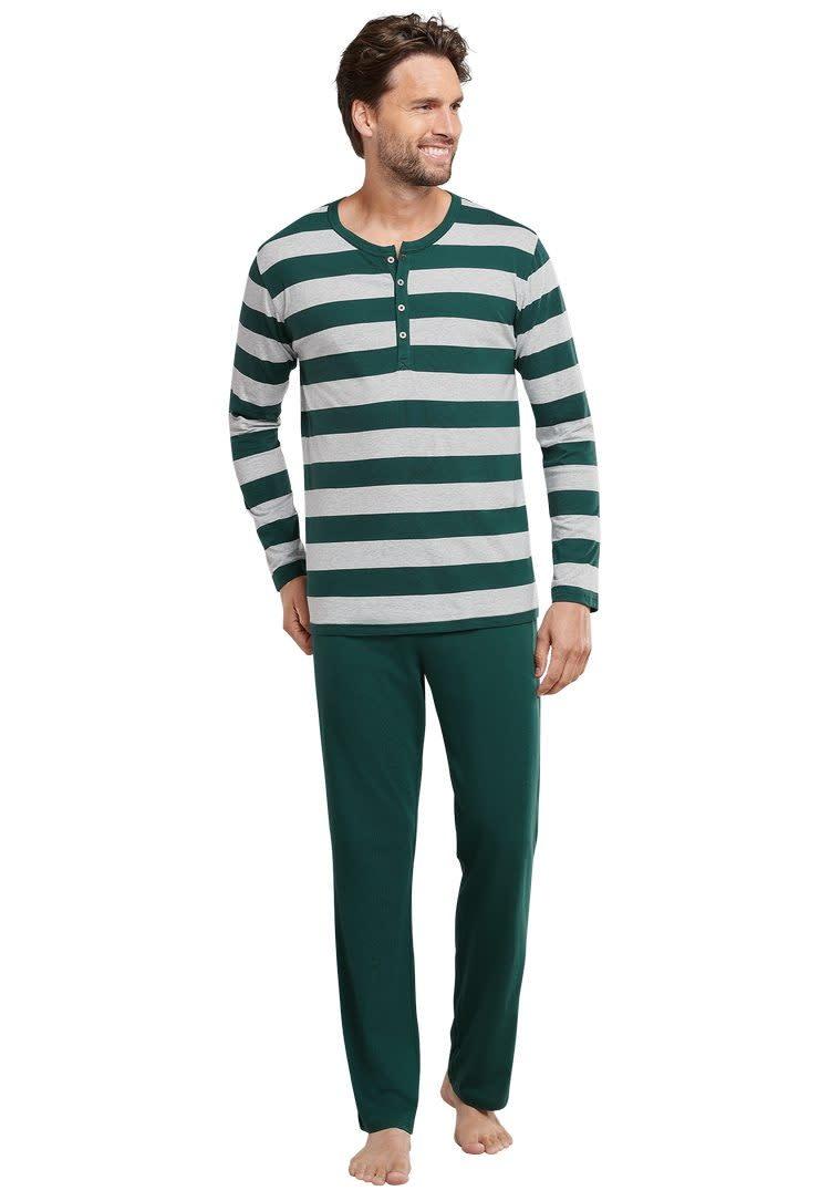 Pyjama lange mouw 159631 - groen-1
