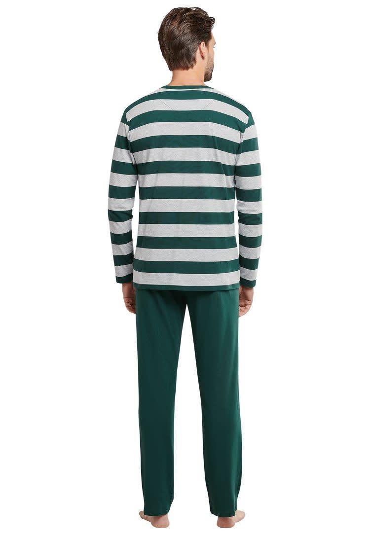 Pyjama lange mouw 159631 - groen-2