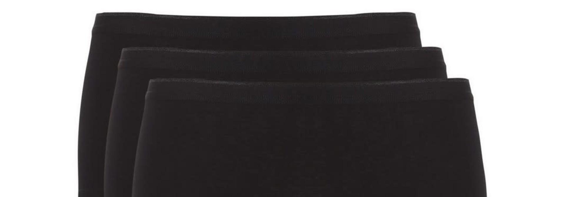 Short Basic 3-Pack 30190 - zwart