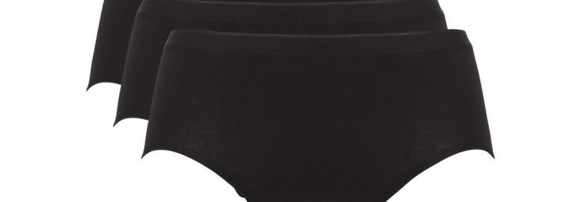 Midi Basic 3-Pack 30191 - zwart