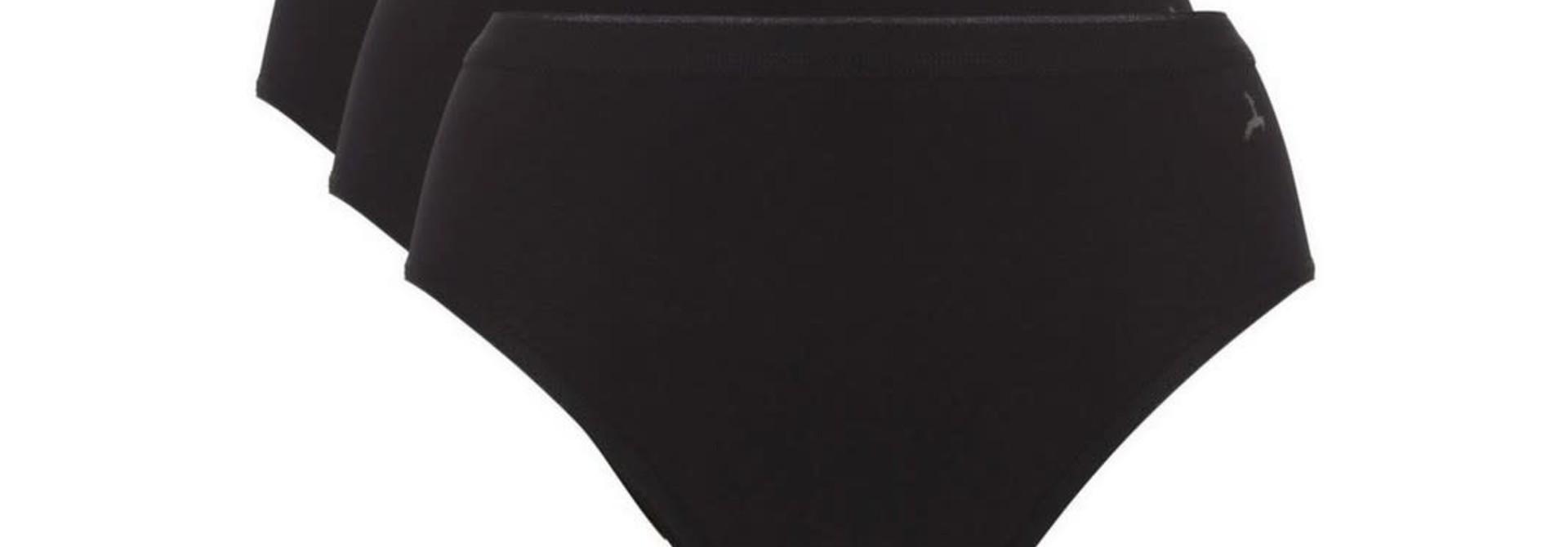 Highleg Basic 3-Pack 30194 - zwart