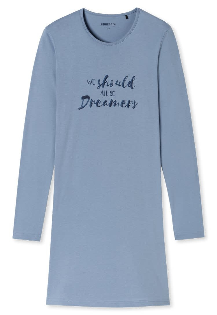 Nachthemd lange mouw 171883 - jeansblauw-3