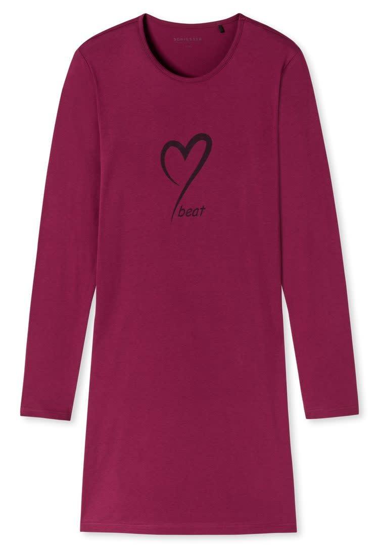 Nachthemd lange mouw 171883 - cranberry-3