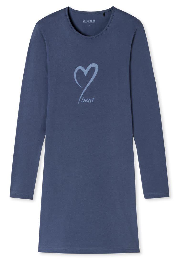 Nachthemd lange mouw 171883 - blauw-3