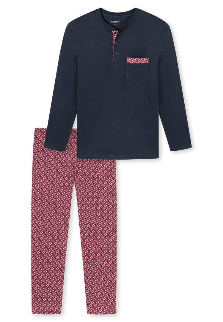 Pyjama lange mouw 171420 - bordeaux-3