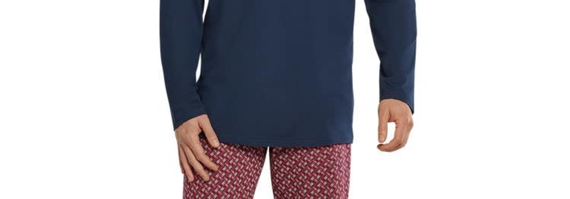 Pyjama lange mouw 171420 - bordeaux