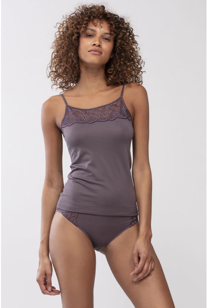 Spaghetti top met kant Emotion Deluxe 55106 - smokey rose