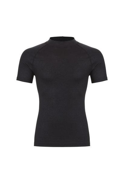 Thermo heren T-shirt hoge boord 30242 - zwart