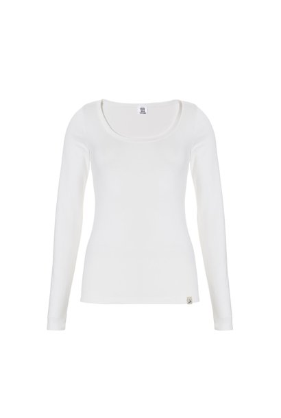 Thermo dames T-shirt met lange mouw 30241 - wit