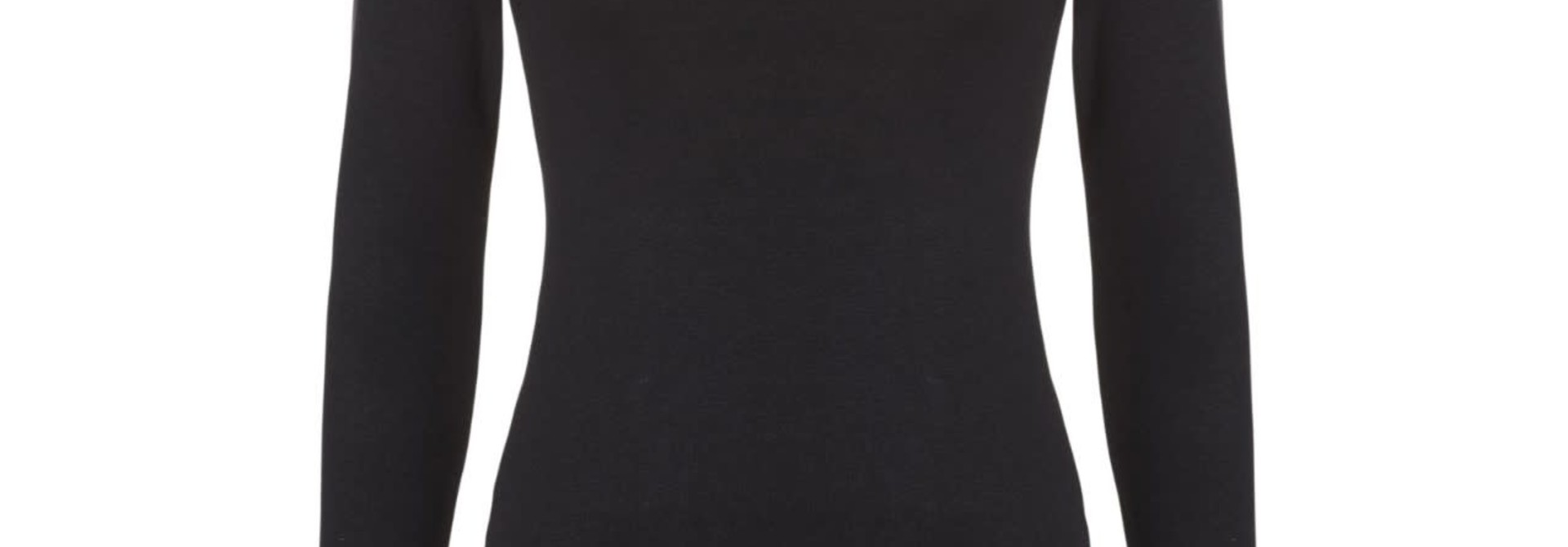 Thermo T-shirt met lange mouw 30241 - zwart