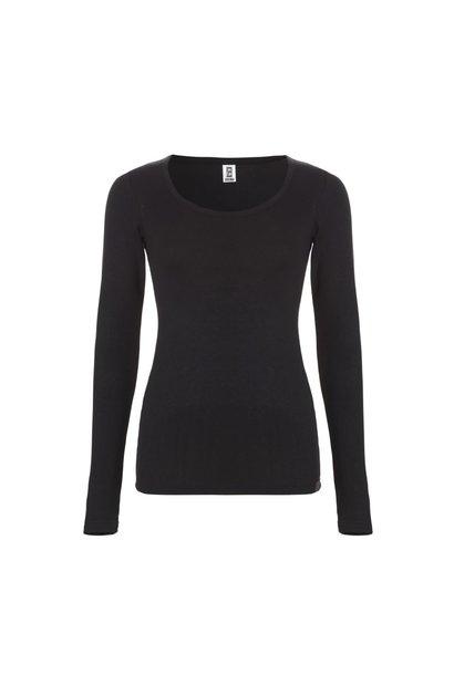Thermo dames T-shirt met lange mouw 30241 - zwart