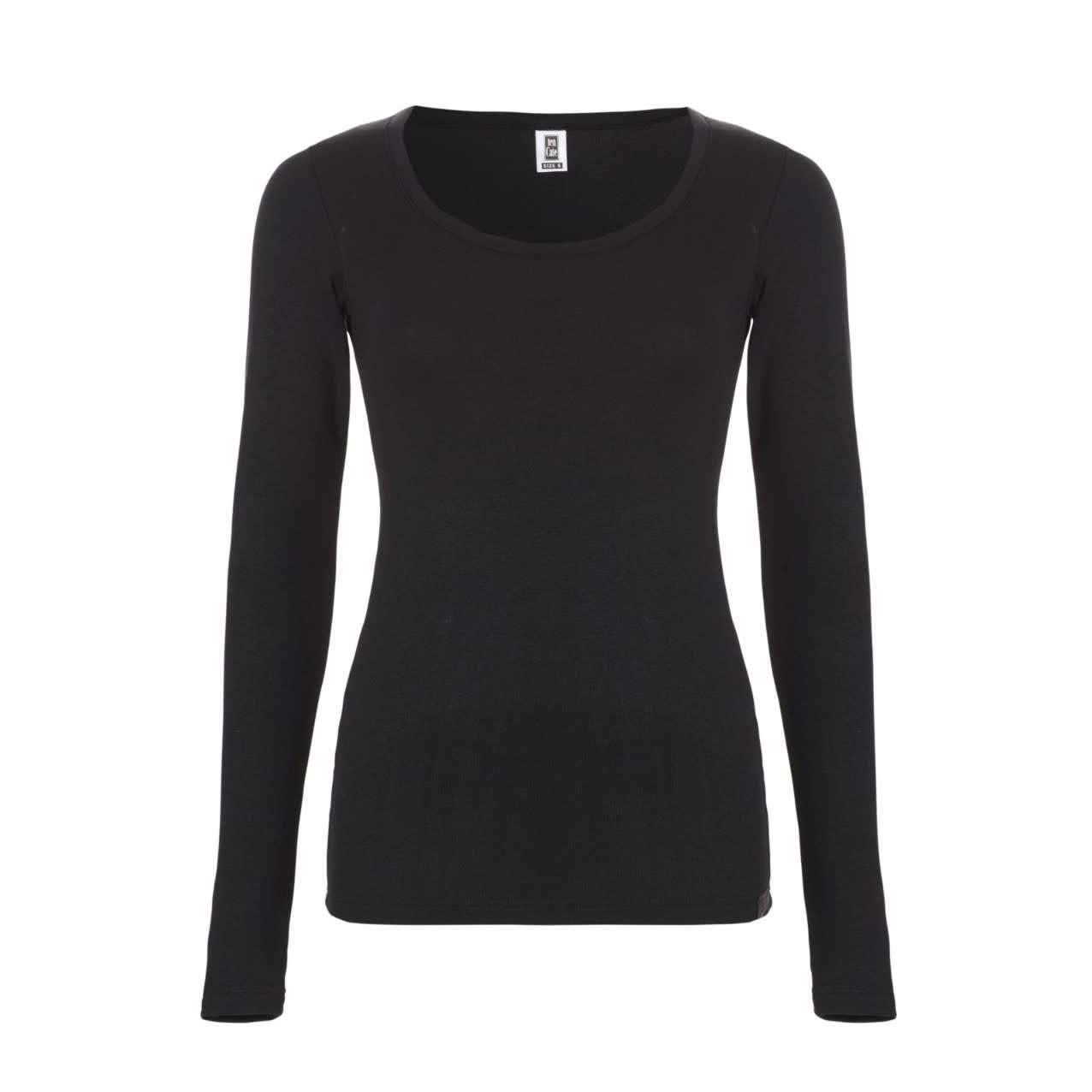 Thermo T-shirt met lange mouw 30241 - zwart-1
