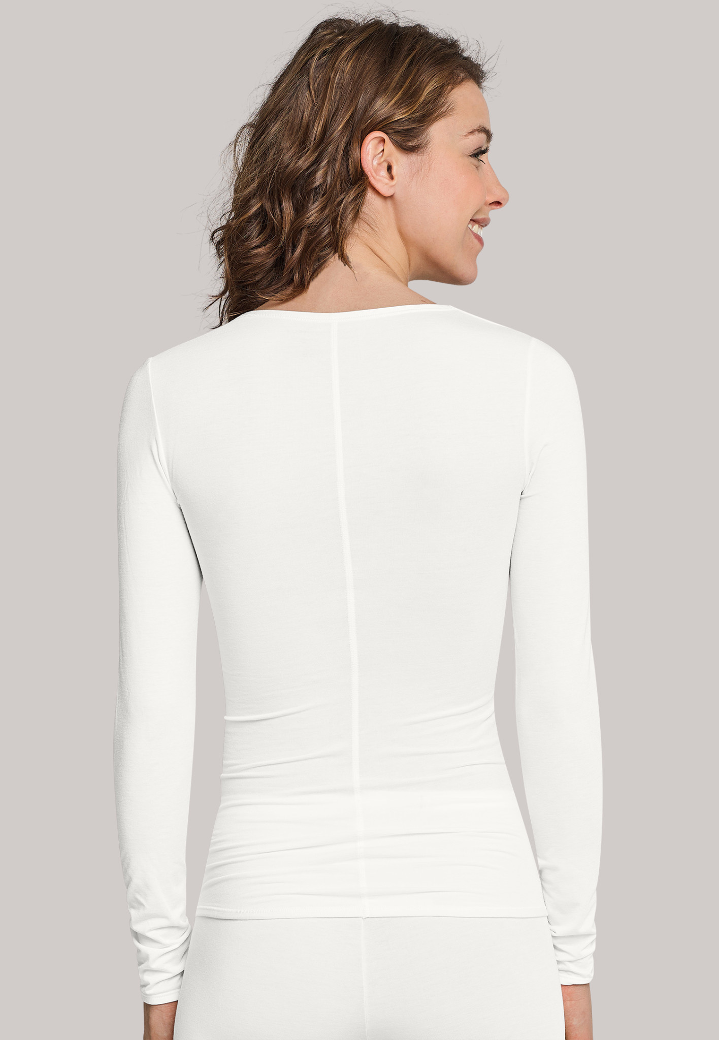 T-shirt Personal Fit lange mouw 155414 - offwhite-2