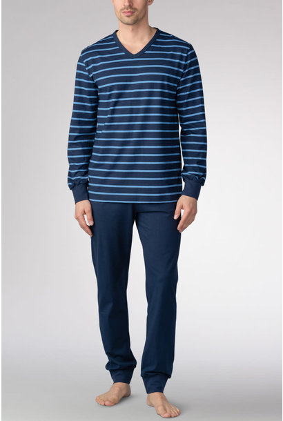 Pyjama lange mouw met boorden 11289