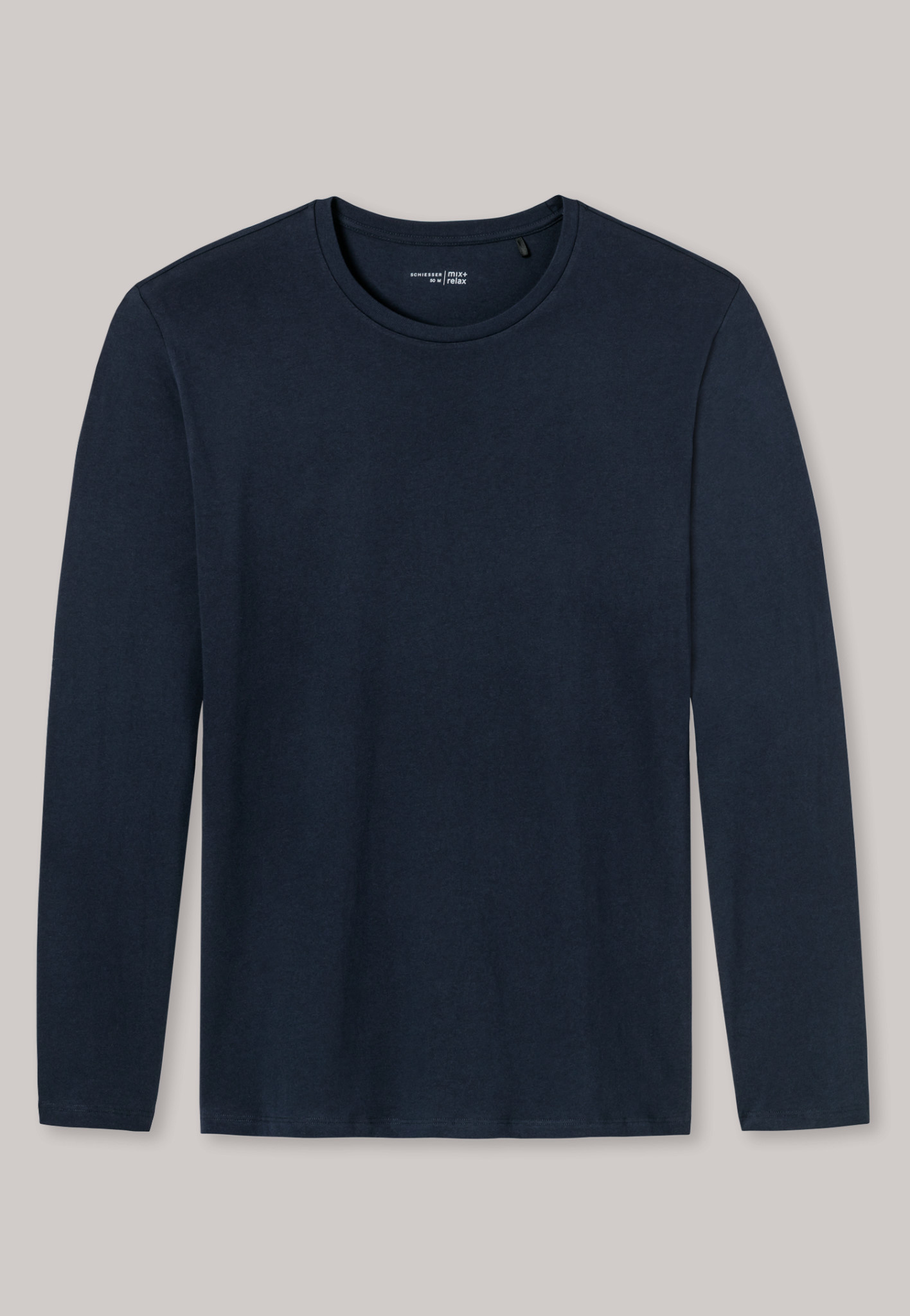 Shirt lange mouw Mix & Match 163835 - donkerblauw-3