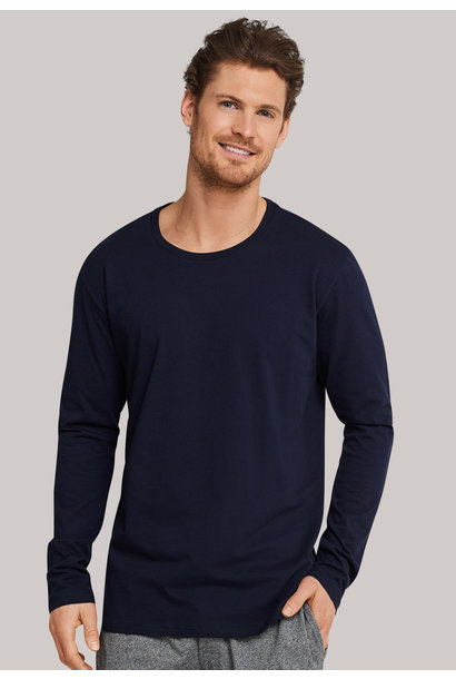 Shirt lange mouw Mix & Match 163835 - donkerblauw
