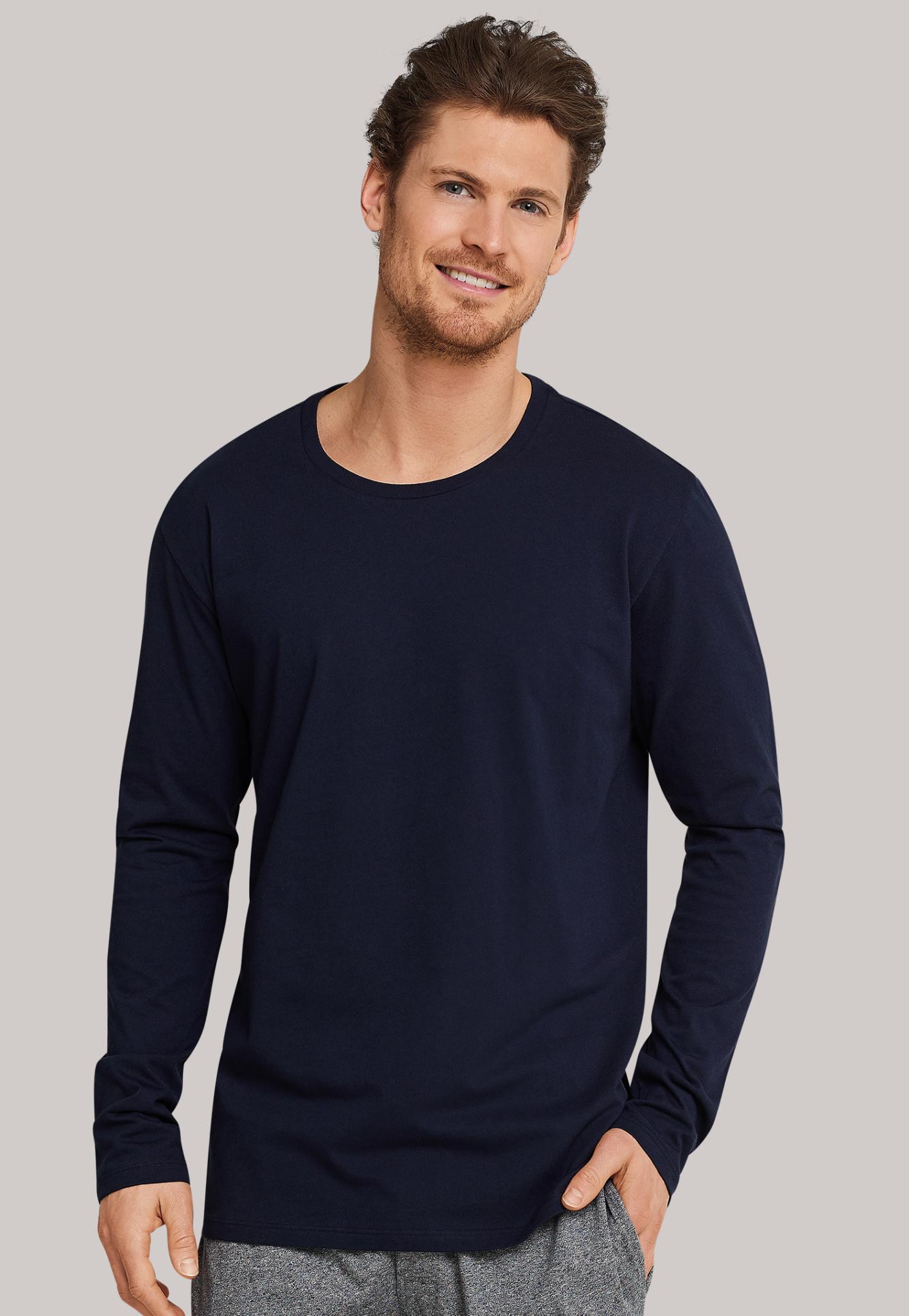 Shirt lange mouw Mix & Match 163835 - donkerblauw-1