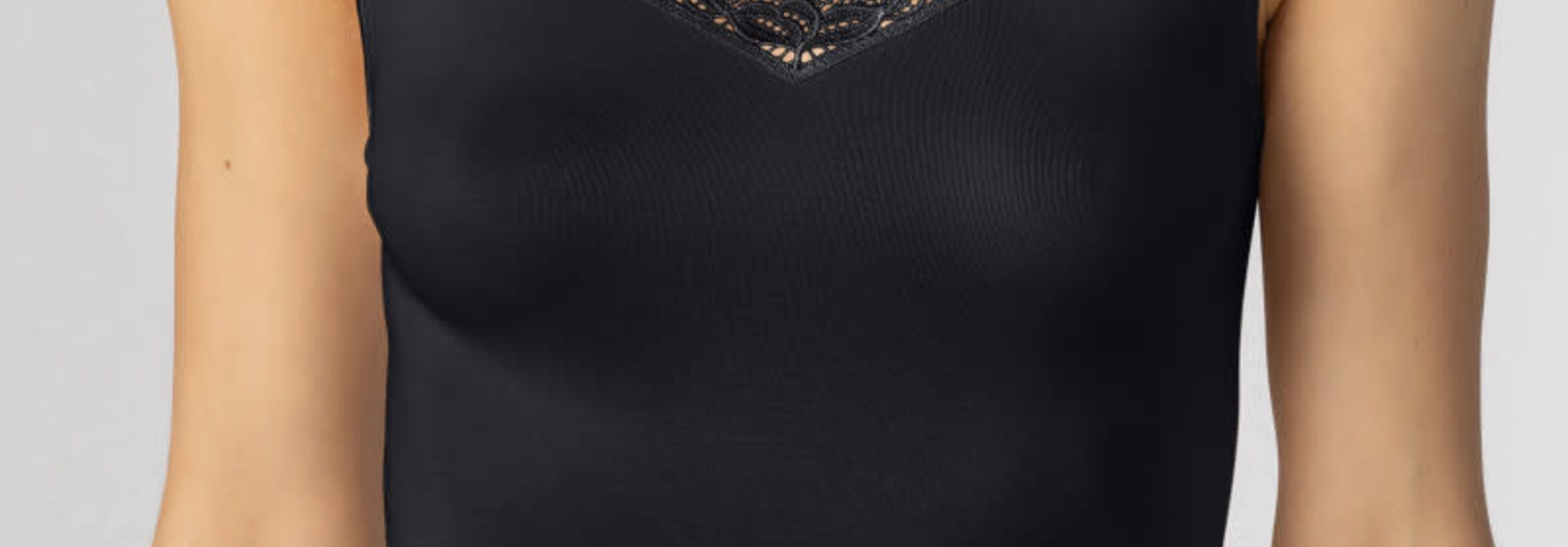 Hemd met kant Emotion Elegance 55362 - zwart