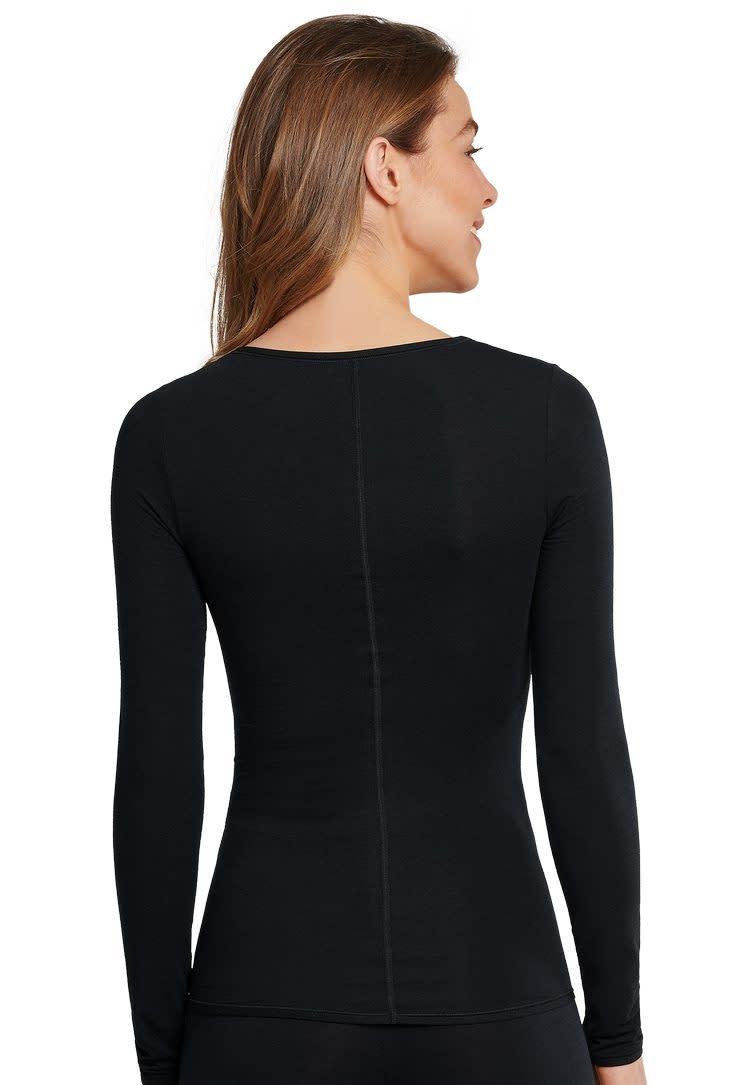 T-shirt Personal Fit lange mouw 155414 - zwart-2