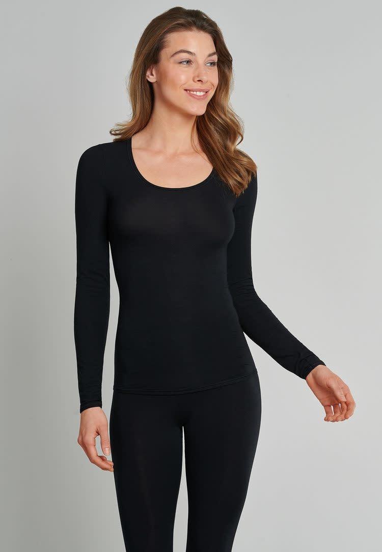 T-shirt Personal Fit lange mouw 155414 - zwart-1