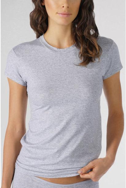 T-shirt hoog gesloten Cotton Pure 26501 - grijs