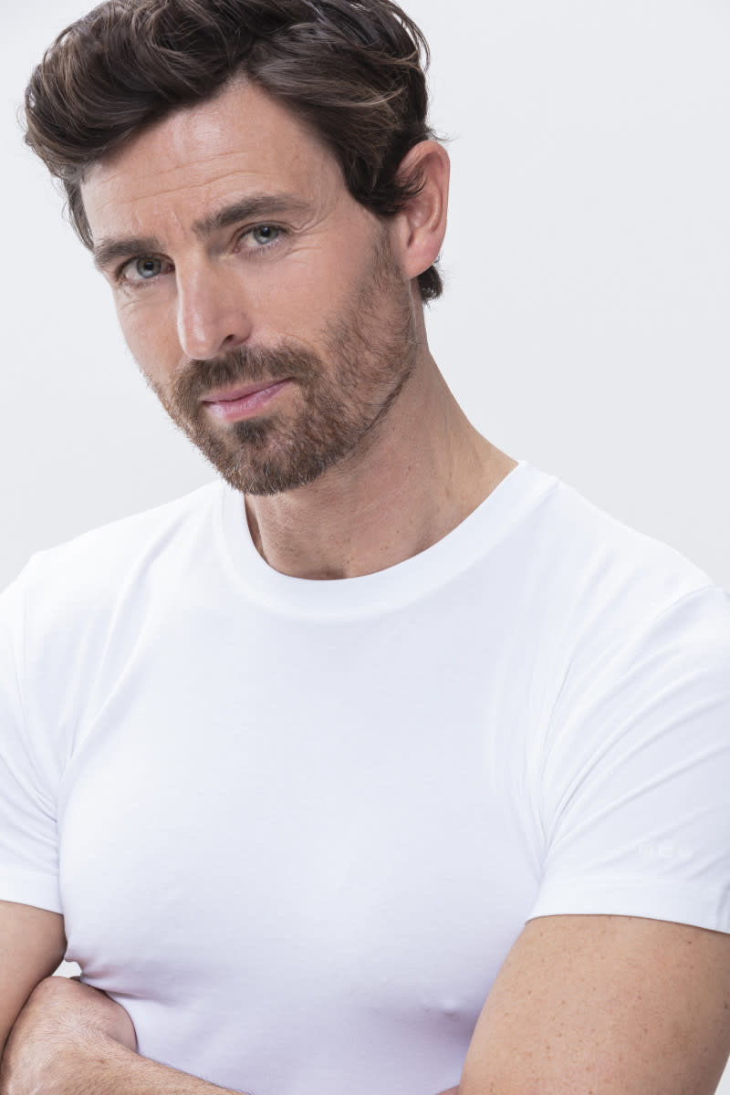 T-shirt hoge boord Software 42503 - wit-3