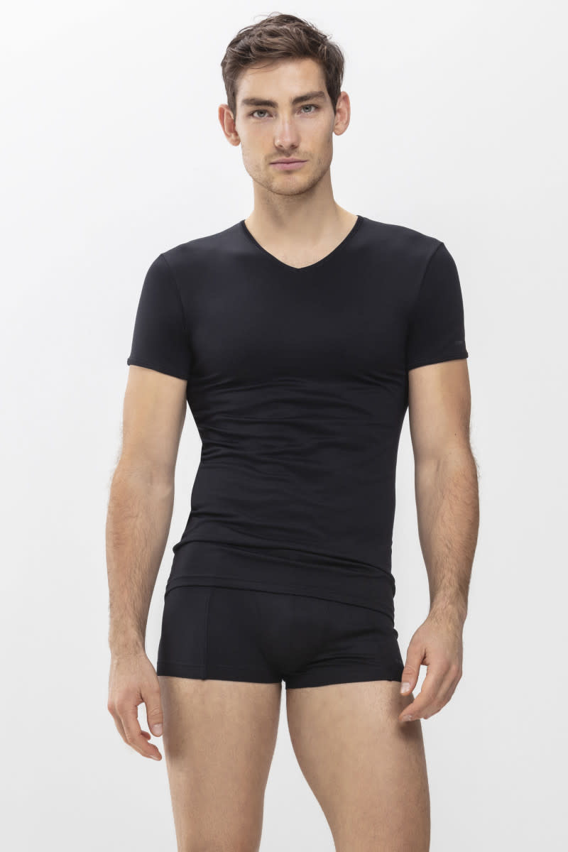 T-shirt v-hals Software 42507 - zwart-1