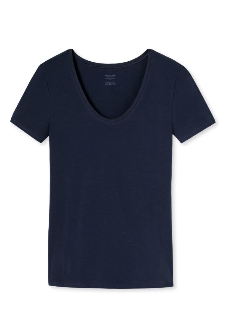 T-shirt korte mouw Naturschonheit 144097 - blauw mt. 42-3