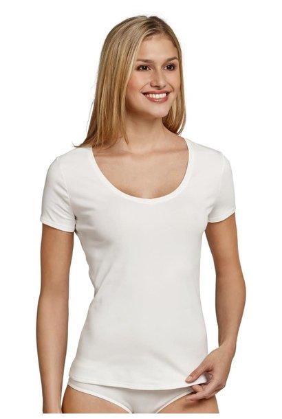 T-shirt korte mouw Naturschonheit 144097 - vanille