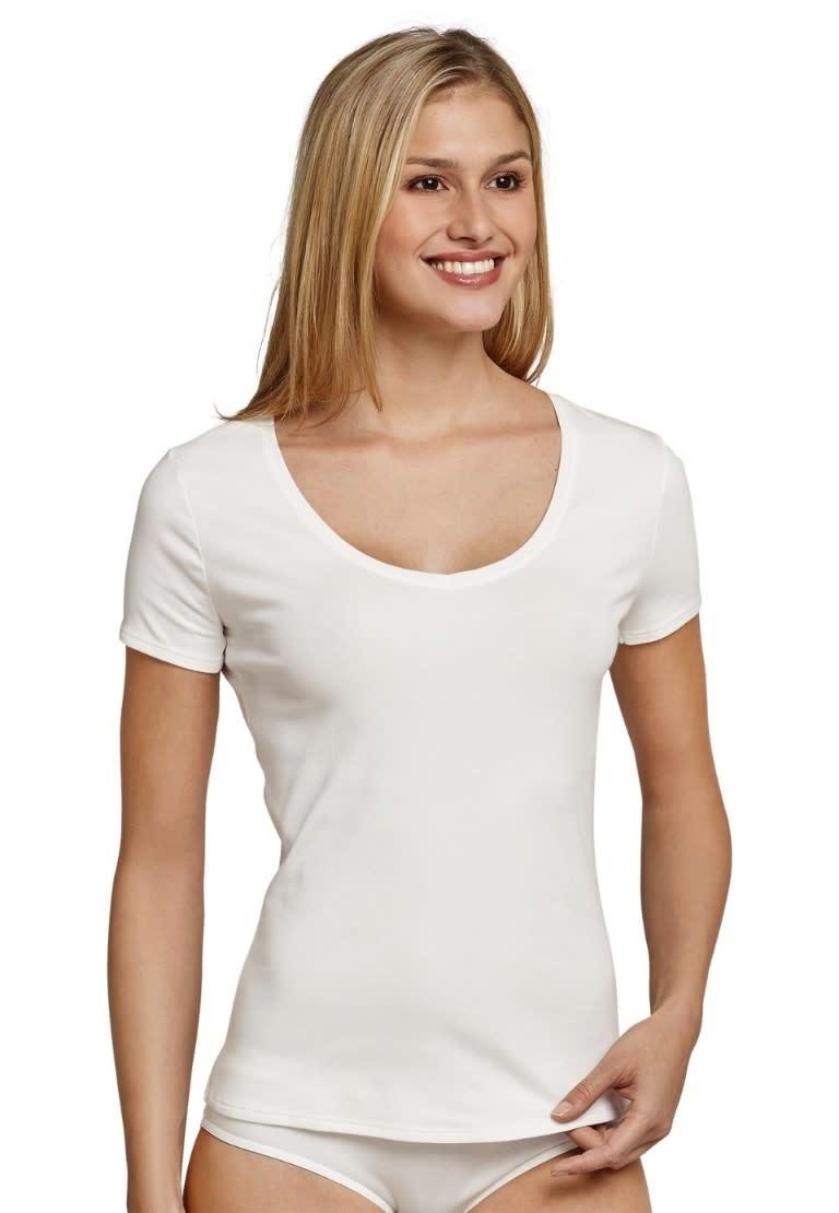 T-shirt korte mouw Naturschonheit 144097 - vanille-1