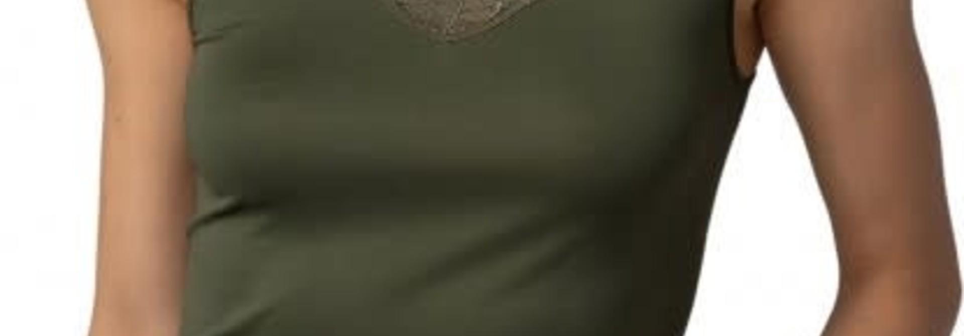 Hemd met kant Emotion Elegance 55361 - groen mt. 44