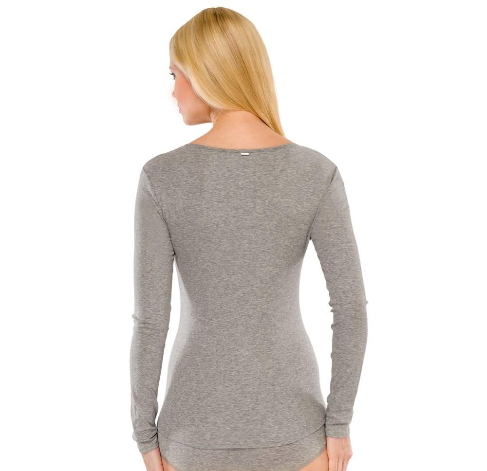 T-shirt lange mouw Naturschonheit 144099 - grijs-2