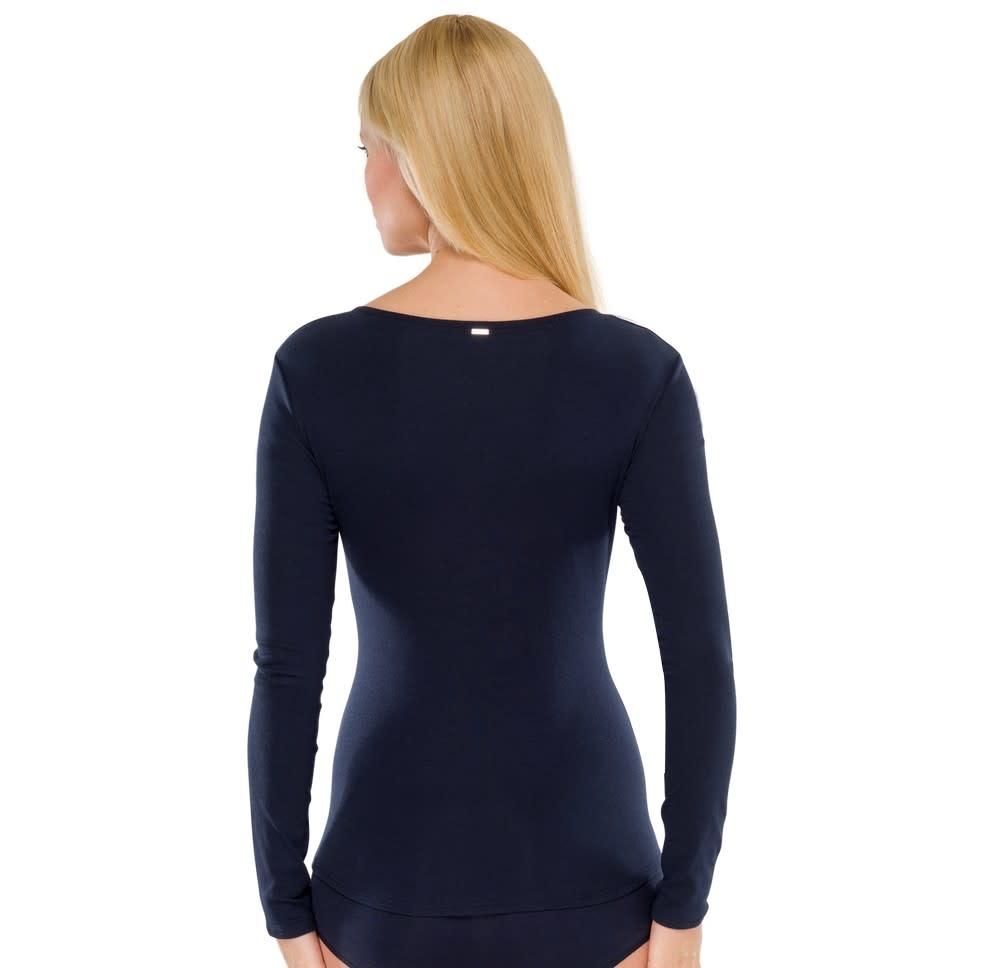 T-shirt lange mouw Naturschonheit 144099 - blauw-2