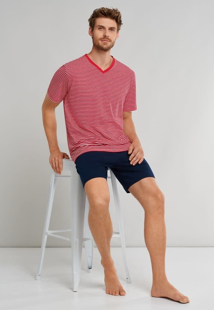 Pyjama korte mouw 173646 - rood-3