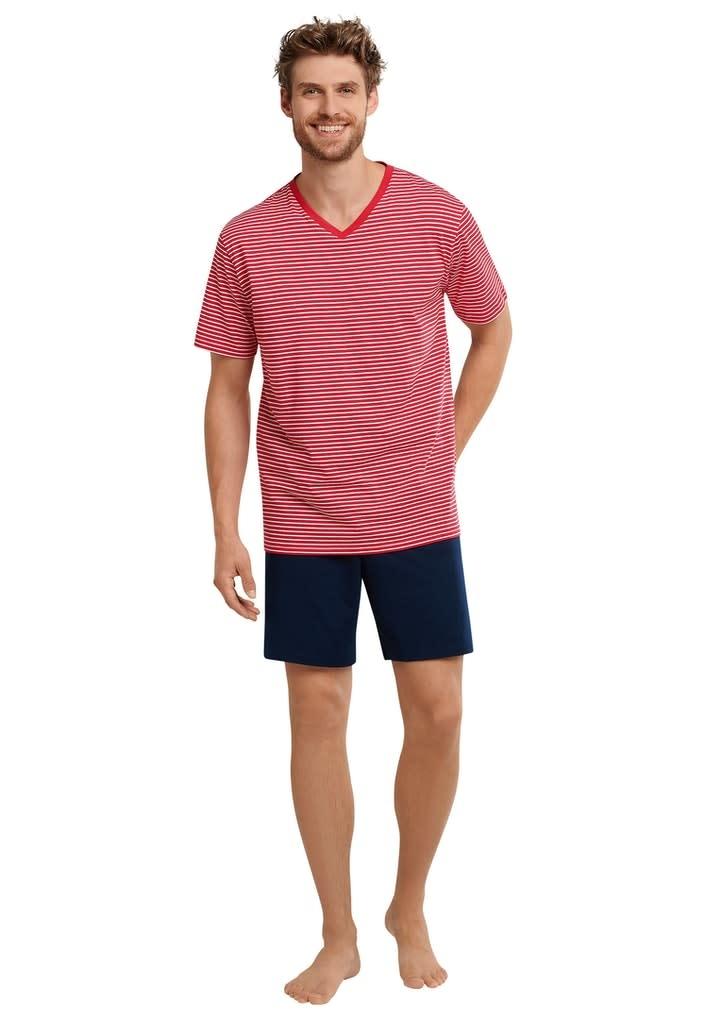Pyjama korte mouw 173646 - rood-1