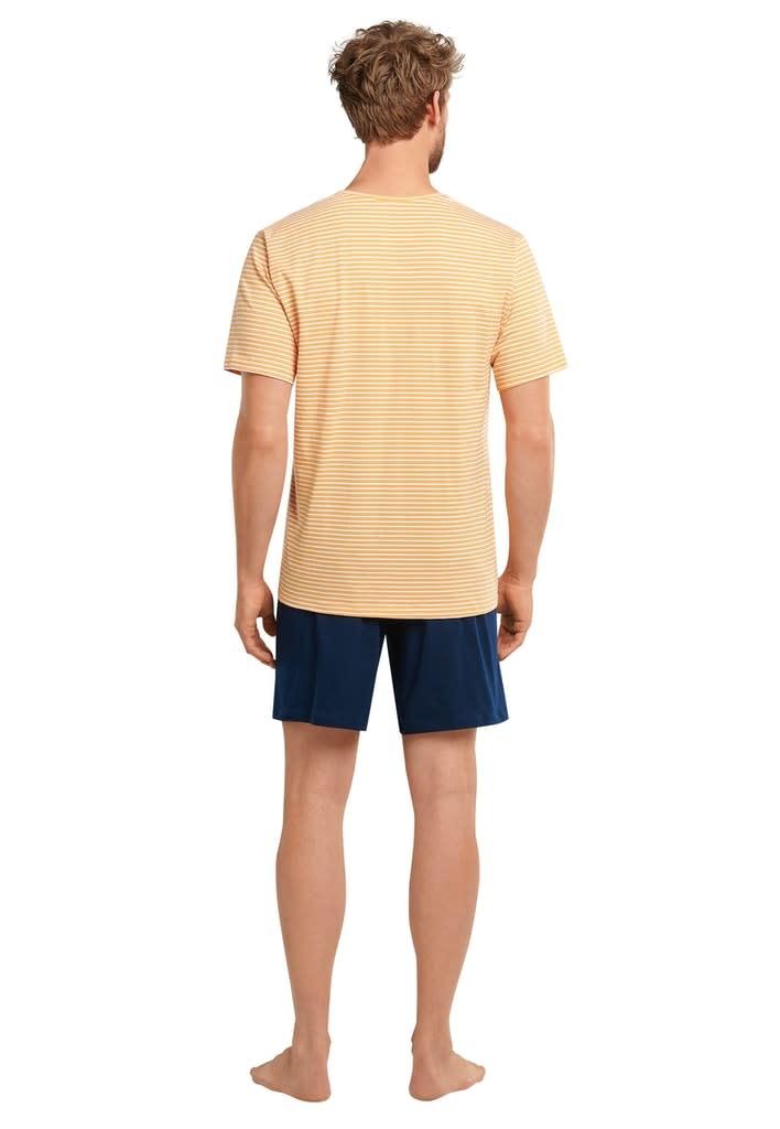 Pyjama korte mouw 173646 - geel-2