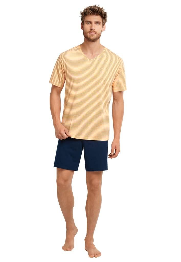 Pyjama korte mouw 173646 - geel-1