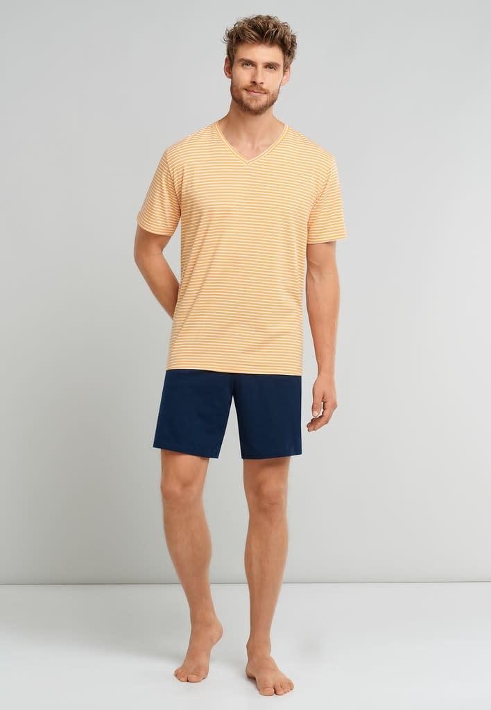 Pyjama korte mouw 173646 - geel-3