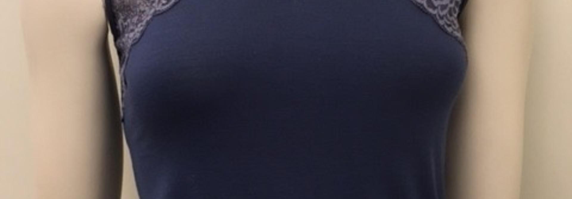 Hemd met kant Greta 1045546 - dark denim
