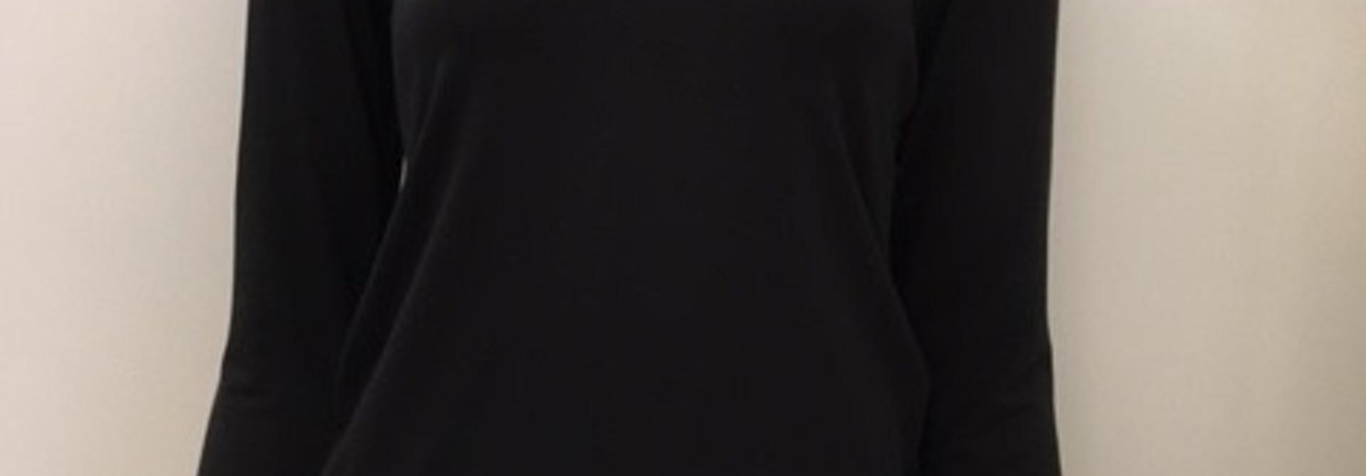 T-Shirt met kant lange mouw Greta 1045580 - zwart