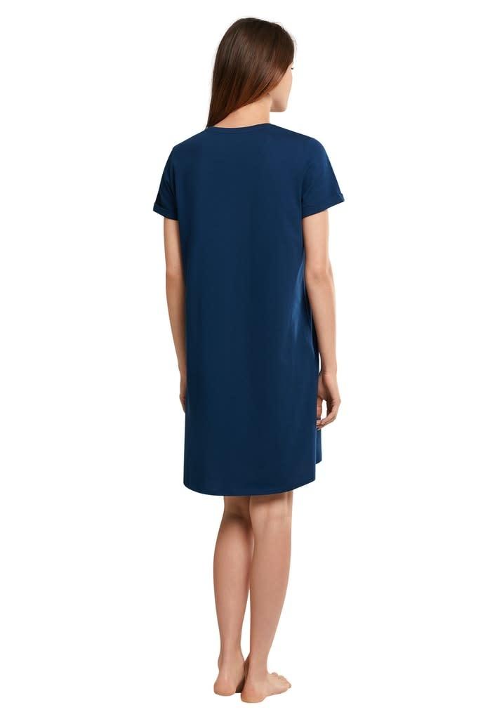 Nachthemd korte mouw 174668 - blauw-2