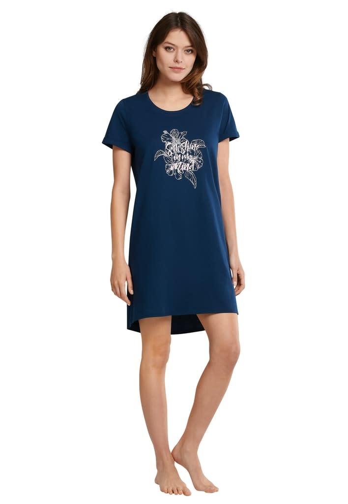 Nachthemd korte mouw 174668 - blauw-1