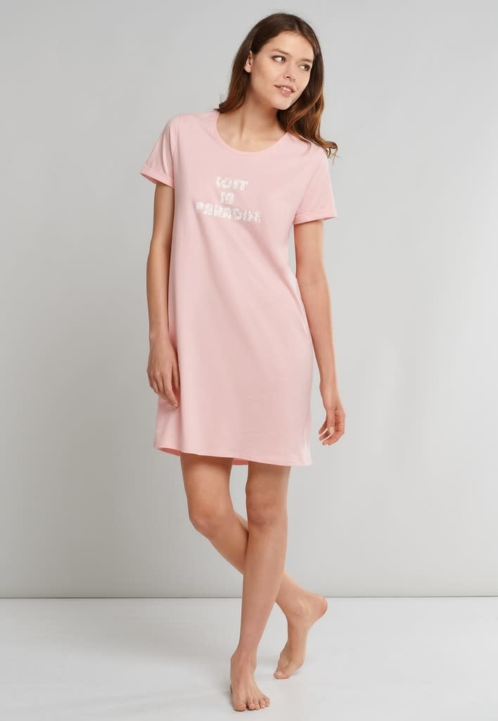Nachthemd korte mouw 174668 - rosa-3
