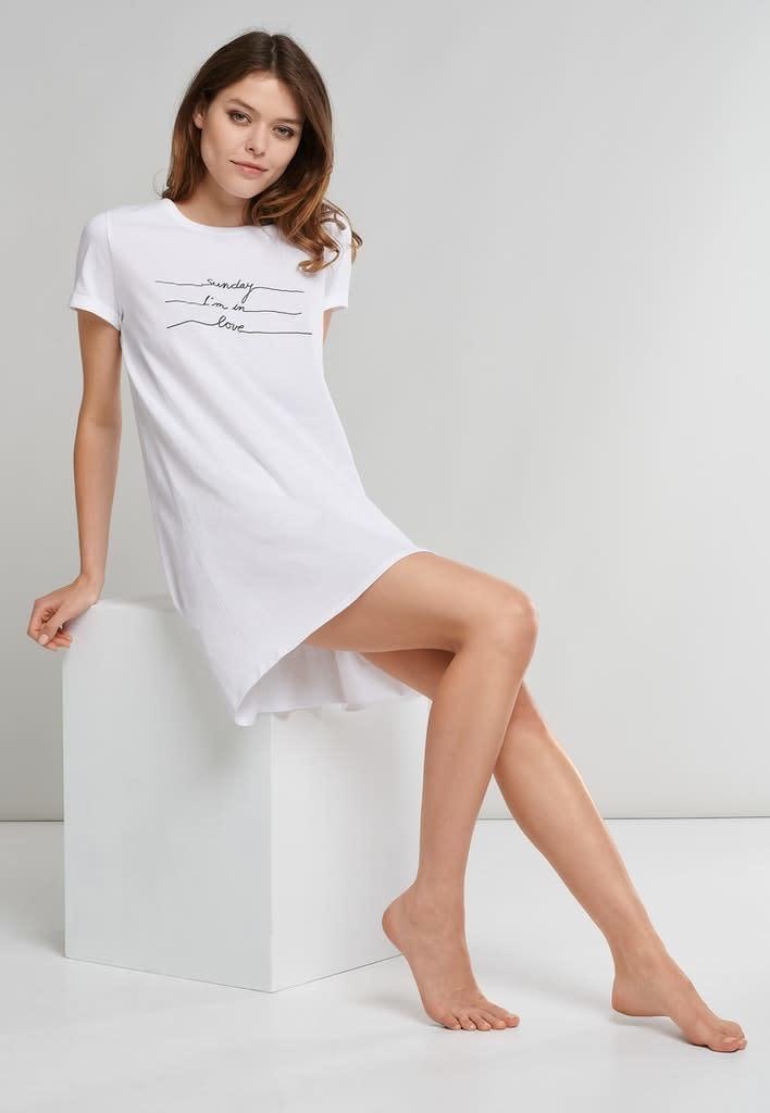 Nachthemd korte mouw 174668 - wit-3