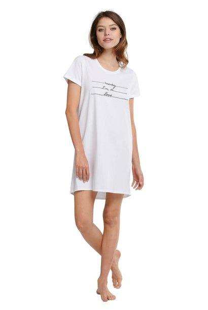 Nachthemd korte mouw 174668 - wit