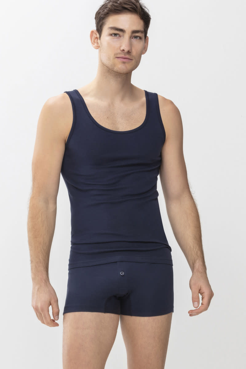 Singlet Casual Cotton 49100 - blauw-1