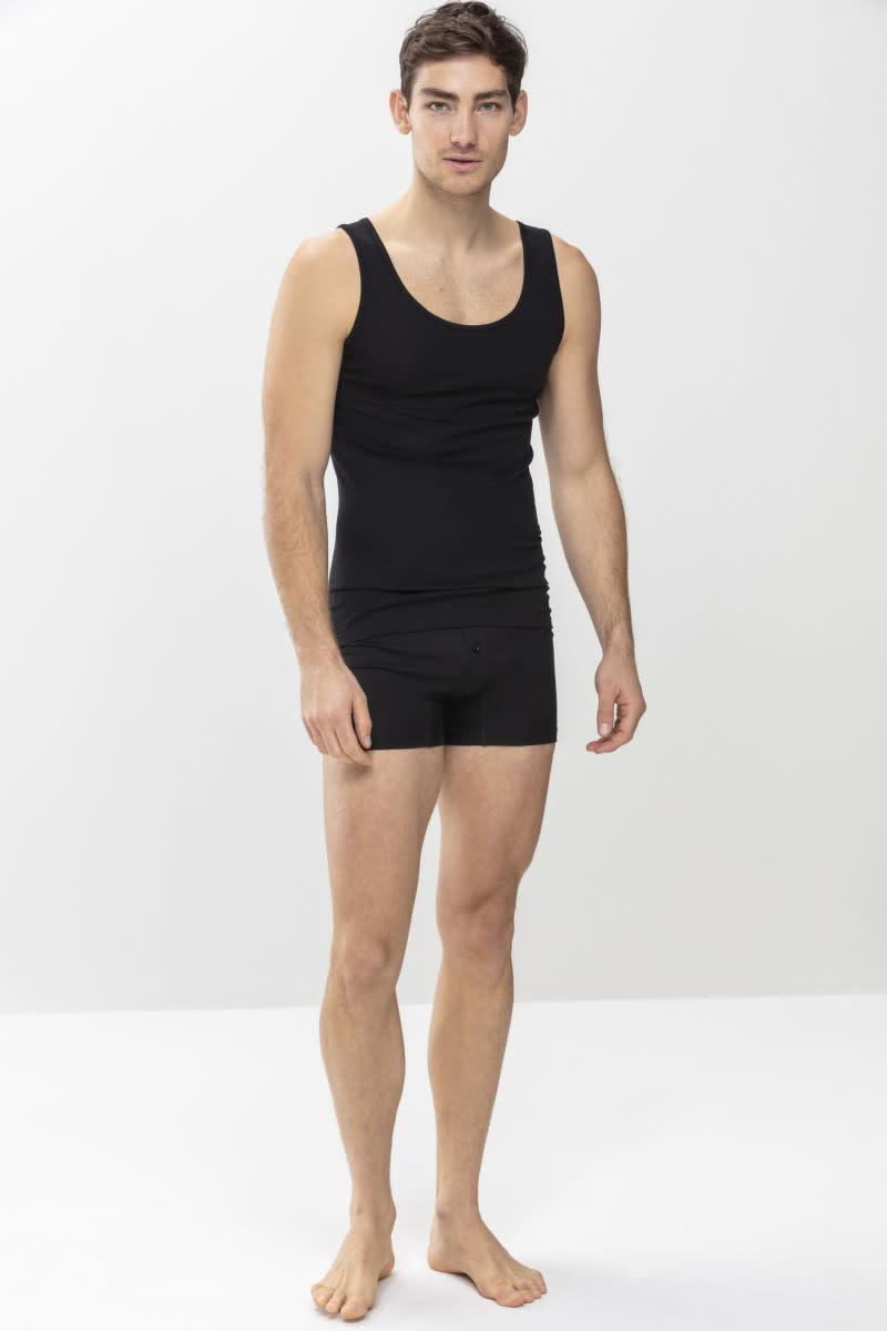 Singlet Casual Cotton 49100 - zwart-2
