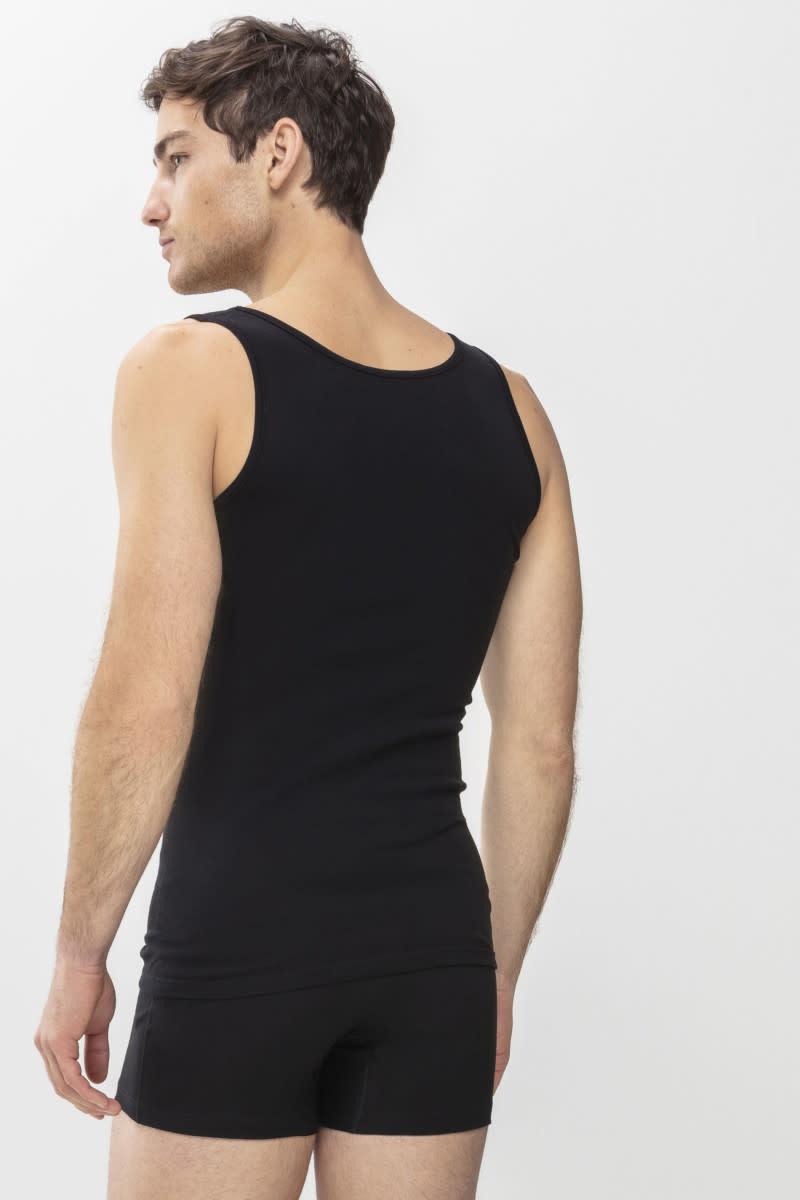 Singlet Casual Cotton 49100 - zwart-3